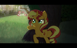 Size: 1280x800 | Tagged: safe, artist:minty root, moondancer, moondancer (g1), sunset shimmer, pony, the fall of sunset shimmer: animated film, youtube