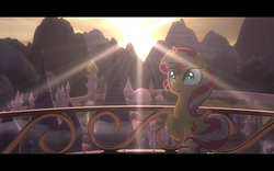 Size: 1280x800 | Tagged: safe, artist:minty root, sunset shimmer, pony, the fall of sunset shimmer: animated film, happy, youtube