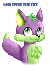 Size: 1440x2160 | Tagged: safe, artist:chiptunebrony, spike, fox, bust, cute, fluffy, hashtag, looking up, numbers, race swap, smiling, spikabetes, style emulation