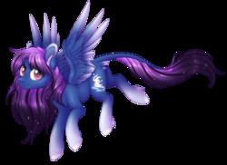Size: 2964x2163   Tagged: safe, artist:doekitty, oc, oc only, oc:aurora (zenzii), pegasus, pony, female, leonine tail, mare, simple background, solo, transparent background