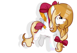 Size: 1024x709 | Tagged: artist:dl-ai2k, colored wings, deviantart watermark, female, mare, multicolored wings, obtrusive watermark, oc, oc:kiddle, pegasus, pony, safe, simple background, solo, transparent background, watermark