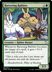 Size: 375x523 | Tagged: buff, ccg, door, edit, idw, legends of magic, magic the gathering, meadowbrook's home, muscles, mutant, rabbit, safe, spoiler:comic, spoiler:comiclom9, trading card, trading card edit, tree