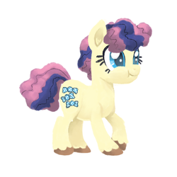 Size: 800x800 | Tagged: artist:needsmoarg4, bon bon, earth pony, female, filly, pony, safe, simple background, solo, sweetie drops, white background, younger