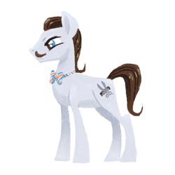 Size: 800x800 | Tagged: safe, artist:needsmoarg4, barber groomsby, earth pony, pony, bowtie, facial hair, moustache, solo