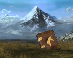 Size: 1240x999 | Tagged: book, canterlot, end of ponies, halo reach, mountain, no pony, safe, scenery