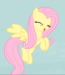 Size: 824x941   Tagged: safe, screencap, fluttershy, pegasus, pony, the cutie map, cropped, cute, eyes closed, female, flying, mare, open mouth, shyabetes, smiling, solo, spread wings, wings