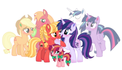 Size: 2430x1400 | Tagged: advanced incest, alicorn, applecest, applejack, applemac, artist:cloudyglow, artist:dashiesparkle, artist:floppychiptunes, artist:illumnious, artist:unoriginai, big macintosh, blushing, cute, family, female, goddamnit unoriginai, incest, infidelity, lesbian, magical lesbian spawn, male, oc, oc:apple brandy, oc:bailey brew, oc:paladin, offspring, offspring shipping, offspring's offspring, parent:applejack, parent:big macintosh, parents:applemac, parent:shining armor, parents:shining sparkle, parent:twilight sparkle, product of incest, safe, shining armor, shiningsparkle, shiny butt, shipping, simple background, straight, transparent background, twicest, twilight sparkle, twilight sparkle (alicorn)