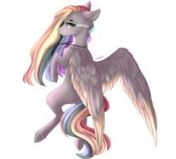 Size: 845x762 | Tagged: artist:slvtmin, artist:sovbean, colored wings, colored wingtips, female, mare, pegasus, pony, safe, simple background, solo, white background