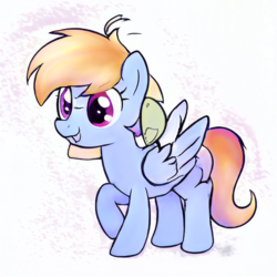Size: 512x512 | Tagged: artist:aerial, female, filly, oc, oc only, pegasus, pony, safe, simple background, solo