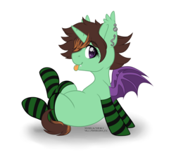 Size: 4584x4091 | Tagged: alicorn, alicorn oc, artist:hellishprogrammer, bat pony, bat pony alicorn, bat pony oc, blank flank, clothes, cute, ear piercing, earring, fangs, female, harry potter, heart eyes, hogwarts mystery, jewelry, mare, oc, ocbetes, oc:mareula snyde, oc only, piercing, pony, safe, simple background, snake, socks, solo, striped socks, tongue out, transparent background, wingding eyes, ych result