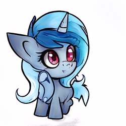 Size: 512x512 | Tagged: artist:aerial, chibi, female, filly, oc, oc only, pony, safe, simple background, unicorn, white background