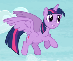 Size: 807x674 | Tagged: alicorn, cropped, cute, flying, safe, screencap, smiling, solo, spread wings, tanks for the memories, twiabetes, twilight sparkle, twilight sparkle (alicorn), wings