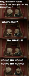 Size: 1192x3060 | Tagged: criticism, crossover, edit, safe, screencap, statler, statler and waldorf, text, text edit, the muppets, waldorf