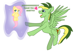 Size: 1280x893 | Tagged: artist:didgereethebrony, aura, base used, cutie mark, dialogue, eeee, floating heart, heart, implied rarity, male, oc, pegasus, plushie, pony, safe, solo, stallion, toy