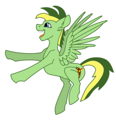 Size: 911x955 | Tagged: artist:didgereethebrony, base used, cutie mark, happy, oc, oc:didgeree, pegasus, pony, safe, solo