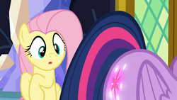 Size: 854x480 | Tagged: alicorn, booty call, context is for the weak, eyes on the prize, fluttershy, glowing cutie mark, out of context, pegasus, plot, pony, safe, screencap, the hooffields and mccolts, twibutt, twilight sparkle, twilight sparkle (alicorn)