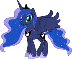 Size: 3641x3002 | Tagged: alicorn, artist:andoanimalia, female, mare, pony, princess luna, safe, simple background, solo, transparent background