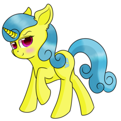 Size: 1200x1200 | Tagged: artist:rainbowtashie, background pony, female, lemon hearts, mare, pony, raised hoof, safe, simple background, solo, transparent background, unicorn
