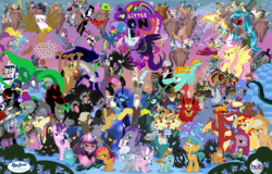 Size: 5999x3845 | Tagged: safe, artist:hooon, idw, accord, adagio dazzle, ahuizotl, angel bunny, antonio, applejack, aria blaze, arimaspi, auntie shadowfall, babs seed, basil, biff, big boy the cloud gremlin, bookworm (character), buck withers, bulk biceps, cerberus (character), chancellor neighsay, chimera sisters, cipactli, cirrus cloud, clump, cosmos (character), cozy glow, dandy grandeur, daybreaker, decepticolt, diamond tiara, discord, dj pon-3, doctor caballeron, dumbbell, feather bangs, fido, filthy rich, flam, flim, fluttershy, gaea everfree, garble, gilda, gladmane, gloriosa daisy, goldcap, granny smith, grubber, hard hat (character), high heel, hoops, indigo zap, ira, iron will, jet set, juniper montage, king longhorn, king sombra, lemon zest, lightning dust, long face, lord tirek, lyra heartstrings, mane-iac, manny roar, marine sandwich, mean applejack, mustachioed apple, nightmare moon, nightmare rarity, nosey news, olden pony, pinkie pie, pony of shadows, prince blueblood, prince rutherford, princess celestia, princess eris, princess luna, principal abacus cinch, professor flintheart, quarterback, queen chrysalis, queen cleopatrot, rabia, radiant hope, rainbow dash, rarity, reginald, rogue (character), rolling thunder, rough diamond, rover, sci-twi, screwball, shadow lock, shadowmane, short fuse, silver spoon, sludge (dragon), smooze, snails, snips, sonata dusk, sour sweet, sphinx (character), spike, spoiled rich, spot, squizard, starlight glimmer, stinky bottom, storm king, street rat, sugarcoat, sunflower (character), sunny flare, sunset shimmer, suri polomare, svengallop, tantabus, temperance flowerdew, tempest shadow, trixie, twilight sparkle, upper crust, vignette valencia, vinyl scratch, wallflower blush, well-to-do, wind rider, withers, wrangler, zappityhoof, zesty gourmand, oc, oc:kydose, alicorn, bat pony, bee, bird, bugbear, cerberus, changeling, changeling queen, chimera, cockatrice, cragadile, crocodile, diamond dog, dog, draconequus, dragon, earth pony, flash bee, fruit bat, giant spider, griffon, headless horse, hydra, manticore, minotaur, parasprite, pegasus, pony, pukwudgie, roc, siren, sphinx, spider, tatzlwurm, timber wolf, umbrum, unicorn, ursa minor, vampire fruit bat, wendigo, windigo, yak, equestria girls, equestria girls series, forgotten friendship, legend of everfree, molt down, my little pony: the movie, nightmare knights, rollercoaster of friendship, school daze, secrets and pies, the mean 6, spoiler:comic, spoiler:comic33, ahuizotl's cats, alicorn amulet, alicornified, antagonist, apple, bat ponified, black vine, carrie nation, chaos, chaos is magic, clone, clothes, collar, colt, crown, crystal prep shadowbolts, cutie mark, dog collar, ear piercing, earring, equestria girls ponified, evil pie hater dash, eyes closed, female, flim flam miracle curative tonic, floating island, flutterbat, food, geode of empathy, geode of fauna, geode of shielding, geode of sugar bombs, geode of super speed, geode of super strength, geode of telekinesis, gold tooth, headless, henchmen, hope, horn ring, inspiration manifestation book, jewelry, magical geodes, male, mane six, mare, midnight sparkle, modular, multiple heads, piercing, pinkamena diane pie, poison joke, ponies of dark water, ponified, pouch pony, queen bee, quill (character), race swap, red eyes, regalia, score, shadow five, smudge, spear, spiked collar, spikezilla, staff, staff of sacanas, stallion, the dazzlings, three heads, twilight sparkle (alicorn), tyrant sparkle, uniform, wall of tags, wallpaper, washouts uniform, weapon, wings