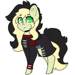 Size: 2000x2000 | Tagged: artist:space--paws0w0, chibi, clothes, earth pony, female, jacket, mare, oc, oc:da capo, oc only, pony, safe, simple background, solo, transparent background