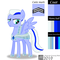 Size: 2000x2000 | Tagged: armor, artist:mrchaosthecunningwlf, artist:ponyvillechaos577, captain of royal guards, captain of royal guards armor, elderly, male, oc, oc:icy horseshoes, pegasus, pony, safe, solo