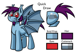 Size: 1520x1050 | Tagged: safe, artist:alittleofsomething, oc, oc:quick draw, pony, vampony, bat wings, cutie mark, facial hair, fangs, goatee, male, mountain, red eyes, reference sheet, solo, wings