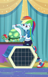 Size: 659x1062 | Tagged: best in show: the pre-show, cropped, equestria girls, equestria girls series, geode of super speed, magical geodes, rainbow dash, safe, screencap, spoiler:eqg series (season 2), tank