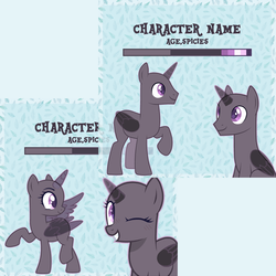 Size: 3000x3000 | Tagged: advertisement, artist:urpone, base used, commission, female, limited palette, male, mare, oc, pony, reference sheet, safe, stallion, vector, your character here
