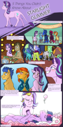 Size: 2000x4000 | Tagged: safe, artist:shimazun, captain celaeno, doctor whooves, flash sentry, princess ember, princess luna, starlight glimmer, sunburst, sunset shimmer, tempest shadow, thorax, time turner, trixie, twilight sparkle, zecora, alicorn, changedling, changeling, classical unicorn, dragon, earth pony, pony, unicorn, zebra, series:five things you didn't know, my little pony: the movie, big crown thingy, chair, changeling king, cloven hooves, crying, dead, death, dragoness, ethereal mane, female, flashburst, flower, funeral, gay, heart eyes, jewelry, king thorax, leonine tail, male, mare, on back, plot, regalia, shipping, stallion, starburst, starry mane, straight, twilight sparkle (alicorn), unshorn fetlocks, wingding eyes