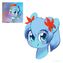 Size: 900x900 | Tagged: artist:dawnfire, flower, flower in hair, oc, oc only, pony, safe, solo