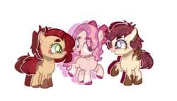 Size: 1472x840 | Tagged: safe, artist:jxst-alexa, oc, oc only, earth pony, pegasus, pony, female, filly, magical lesbian spawn, offspring, parent:apple bloom, parent:babs seed, parent:diamond tiara, parent:pipsqueak, parent:scootaloo, parents:babsqueak, parents:diamondbloom, parents:scootasqueak, simple background, transparent background