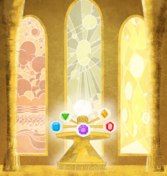 Size: 1590x1676 | Tagged: safe, composite screencap, edit, edited screencap, screencap, friendship is magic, elements of harmony, no pony, panorama, stained glass window