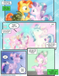 Size: 1275x1650 | Tagged: alicorn, artist:dsana, baby, baby pony, bright smile, castle (crystal pony), comic, comic:the shadow shard, crystallized, crystal pony, dialogue, dragon, earth pony, female, male, mare, offscreen character, pony, princess cadance, princess flurry heart, safe, shining armor, shipping, spike, stallion, starburst, starlight glimmer, straight, sunburst, twilight sparkle, twilight sparkle (alicorn), unicorn