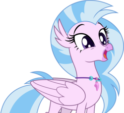 Size: 5000x4556 | Tagged: absurd res, artist:dashiesparkle, classical hippogriff, cute, diastreamies, happy, hippogriff, non-compete clause, safe, silverstream, simple background, solo, .svg available, transparent background, vector