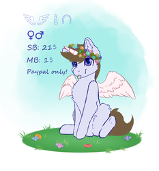 Size: 2800x3000 | Tagged: alicorn, artist:lilrandum, commission, fluffy, horn, pony, safe, solo, wings, ych example, ychopen, your character here