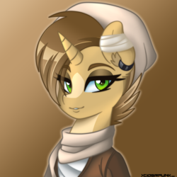 Size: 2000x2000 | Tagged: artist:ciderpunk, bust, female, oc, pony, safe, unicorn