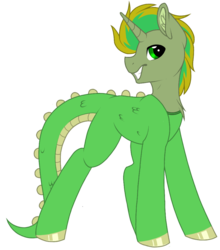 Size: 872x993 | Tagged: artist:melodytheartpony, cute, dinosaur, halloween, holiday, male, oc, safe, smiling, unicorn