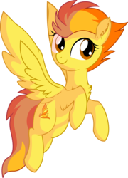 Size: 5409x7500 | Tagged: absurd res, artist:aureai, artist:cyanlightning, chest fluff, ear fluff, female, flying, mare, pegasus, pony, safe, simple background, smiling, spitfire, .svg available, tongue out, transparent background, vector