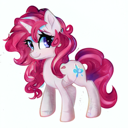 Size: 512x512 | Tagged: artist:aerial, cute, oc, oc only, pony, safe, simple background, solo, unicorn, white background