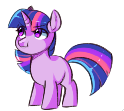 Size: 649x581 | Tagged: artist:catzino, blank flank, cute, eye clipping through hair, female, filly, filly twilight sparkle, pony, safe, simple background, solo, twiabetes, twilight sparkle, unicorn, unicorn twilight, white background, younger