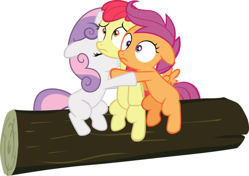 1991044 Apple Bloom Artist Frownfactory Cutie Mark Crusaders Earth Pony Eyes Closed Female Filly Floppy Ears Horn Hug Log Pegasus Pony Safe Scared Scootaloo Simple Background Sleepless In Ponyville Svg Svg Available To try to sway scootaloo away from the washouts, dash takes her to spitfire, who tries to scare scootaloo about. pegasus pony safe scared scootaloo