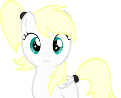 Size: 4000x3210 | Tagged: artist:accu, aryan pony, close-up, expressionless, face, female, filly, looking at you, oc, oc:luftkrieg, pegasus, pony, ponytail, safe, vector