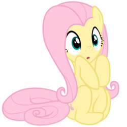 Size: 1514x1512 | Tagged: artist:kingdark0001, cute, female, fluttershy, mare, :o, open mouth, pegasus, pony, safe, shyabetes, simple background, solo, transparent background, vector