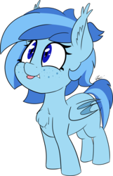 Size: 2180x3375 | Tagged: artist:seafooddinner, bat pony, bat pony oc, chest fluff, ear fluff, fangs, female, filly, mlem, oc, oc:cold front, pony, safe, silly, tongue out