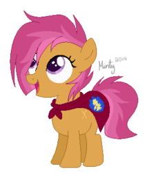 Size: 284x333 | Tagged: artist:mintoria, earth pony, female, filly, magical lesbian spawn, oc, oc only, offspring, parent:babs seed, parent:scootaloo, parents:scootababs, pony, safe, simple background, solo, transparent background