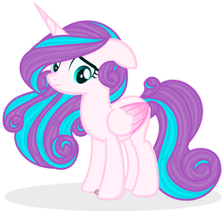 Size: 2128x2008 | Tagged: artist:angelamusic13, floppy ears, older, pony, princess flurry heart, safe, simple background, solo, white background