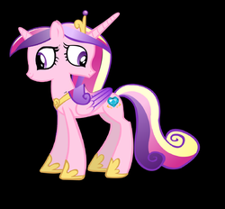 Size: 1589x1477 | Tagged: safe, artist:theunknowenone1, princess cadance, pony, conjoined, duality, fusion, multiple heads, self ponidox, teen princess cadance, two heads