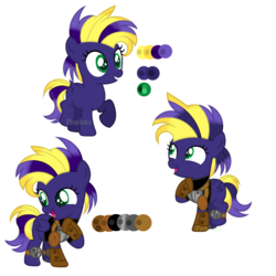 Size: 2300x2300 | Tagged: armor, artist:onlineodd, base used, birth defect, clothes, cute, fallout equestria, female, filly, happy, oc, oc only, oc:void flight, pegasus, pony, reference sheet, safe, shoulder pads, solo