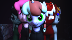 Size: 1920x1080 | Tagged: 3d, animated, artist:jollyoldcinema, emotion, emotions, feelings, group, my sides, oc, oc:mintyswirl, pinkie pie, pony, safe, source filmmaker, video