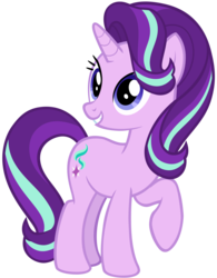 Size: 4093x5247 | Tagged: absurd res, artist:andoanimalia, female, happy, mare, pony, safe, simple background, solo, starlight glimmer, transparent background, uncommon bond, unicorn, vector